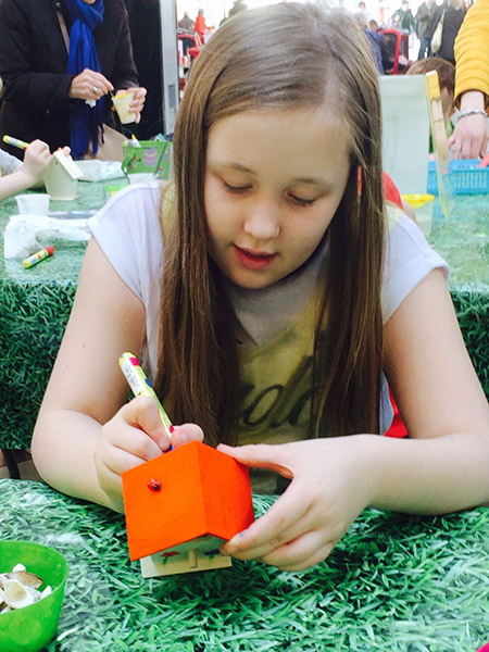 Children Enjoy Crafty Spring Fun